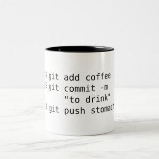 Git voegt de Mok van de Koffie toe