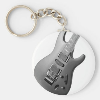 gitaar lichaam basic ronde button sleutelhanger