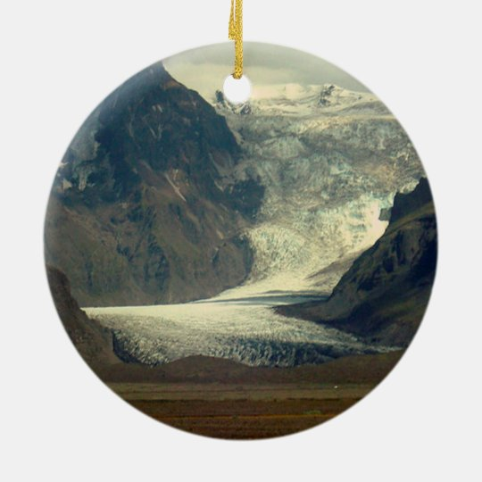 Glacier on Iceland Ornament