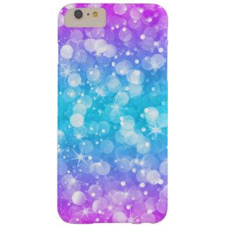 Glam Bokeh schittert Ombre Roze & Blauwe GR3 Barely There iPhone 6 Plus Hoesje