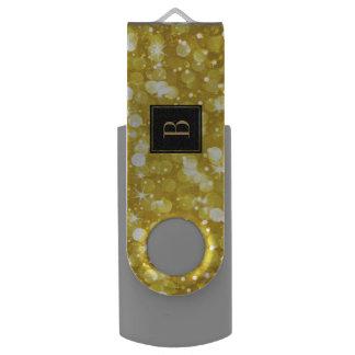 Glam Gouden Bokeh schittert Monogram