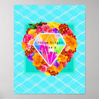 Glans Helder als een Diamant Poster