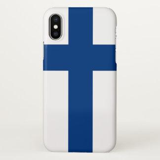 Glanzend iPhoneHoesje met Vlag van Finland