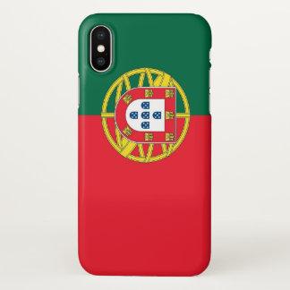 Glanzend iPhoneHoesje met Vlag van Portugal