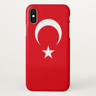 Glanzend iPhoneHoesje met Vlag van Turkije