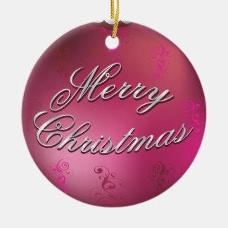 glanzend roze ornament