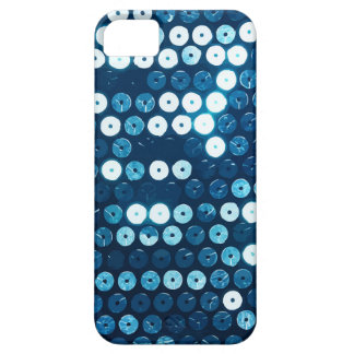 glanzende blauwe lovertjes barely there iPhone 5 hoesje