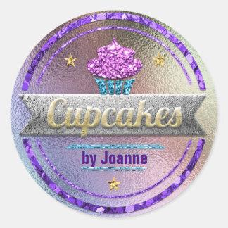 Glanzende de Verkoop van Cupcake schittert Ronde Sticker