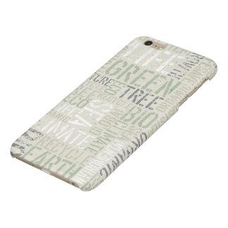 Glanzende iPhone 6 van de Woorden van de ecologie iPhone 6 Plus Hoesje Glanzend