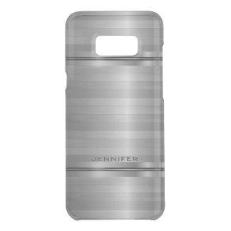 Glanzende Metaal Zilveren Grijze Horizontale Get Uncommon Samsung Galaxy S8 Plus Case