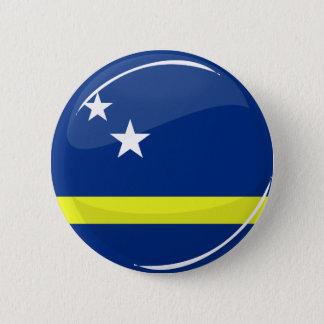 Glanzende Ronde Curacao van de Vlag Vlag Ronde Button 5,7 Cm