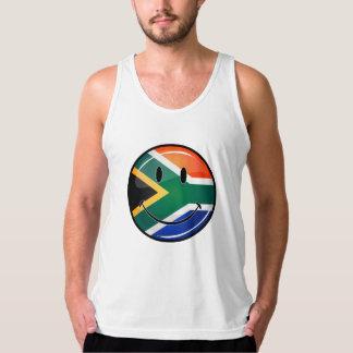 Glanzende Ronde Gelukkige Zuidafrikaanse Vlag T Shirt