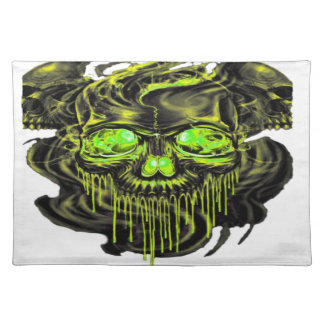 Glanzende Yella Skeletten PNG Placemat