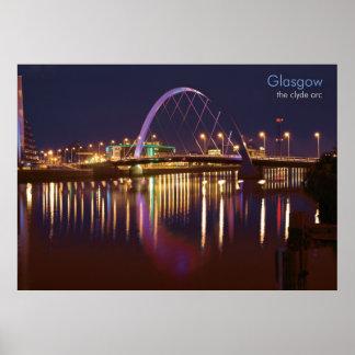 Glasgow - de Boog Clyde Poster