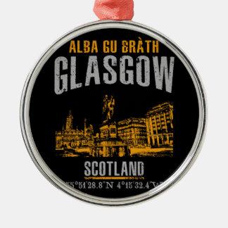 Glasgow Zilverkleurig Rond Ornament