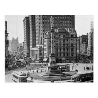 Glasplaatje van de Cirkel van Columbus het Vintage Briefkaart