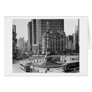 Glasplaatje van de Cirkel van Columbus het Vintage Kaart