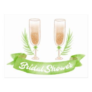 Glazen van Champagne van het Vrijgezellenfeest van Briefkaart