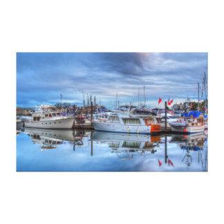 glazige boten canvas print