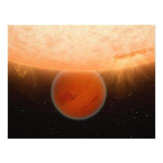Gliese 436 de Planeet die van B Extrasolar het is  Foto Kunst