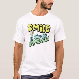 Glimlach - als u gedeprimeerd bent t shirt