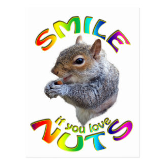 glimlach als u noten van regenboog houdt briefkaart