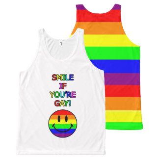 Glimlach als u vrolijke regenboog bent All-Over-Print tank top