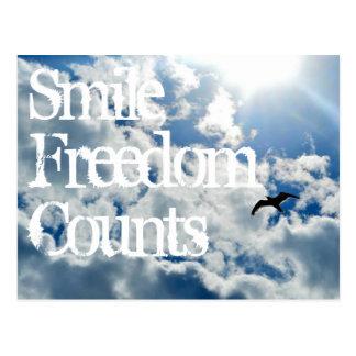 Glimlach, de Tellingen van de Vrijheid Briefkaart