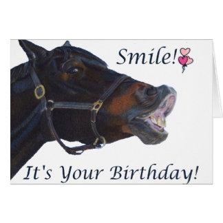 Glimlach! Het is uw Wenskaart van de Verjaardag