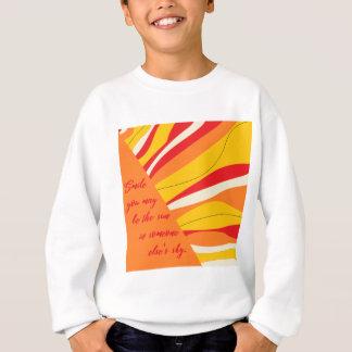 glimlach u de zon in iemand kunt zijn elses hemel trui