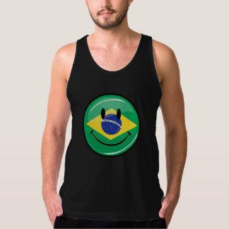 Glimlachende Braziliaanse Vlag T Shirt