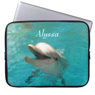 Glimlachende Dolfijn Laptop Hoesjes