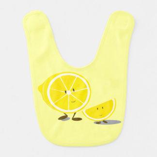 Glimlachende gesneden citroenen slabbetje