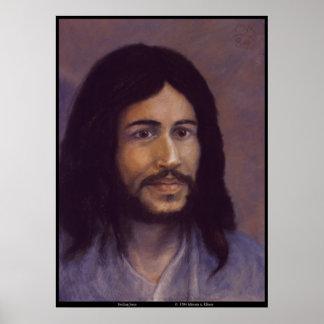 Glimlachende Jesus, het Joodse afbeelding van Poster