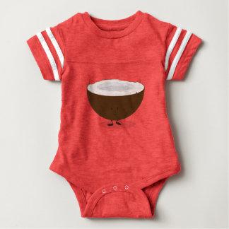 Glimlachende Kokosnoot Baby Bodysuit