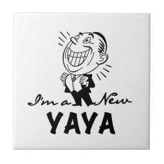 Glimlachende Nieuwe T-shirts Yaya en Giften Keramisch Tegeltje
