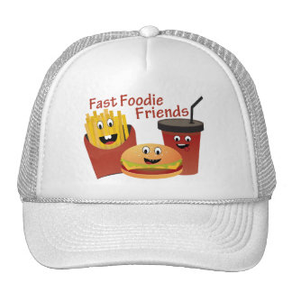 Glimlachende Snelle Vrienden Foodie Petten