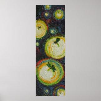 Glimwormen bij Poster van de Kunst van de Nacht he