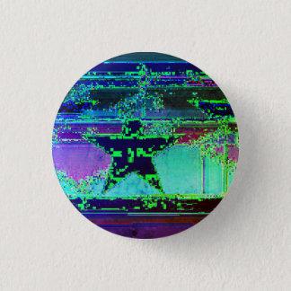 glitch ster ronde button 3,2 cm