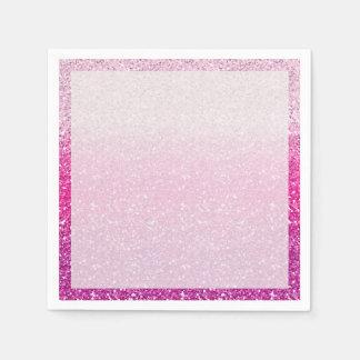 Glittery Roze Ombre Wegwerp Servetten