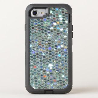 Glitzy Sparkly Zilveren Bling schittert OtterBox Defender iPhone 8/7 Hoesje