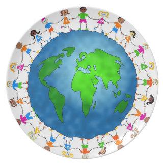Globaal Kind Melamine+bord