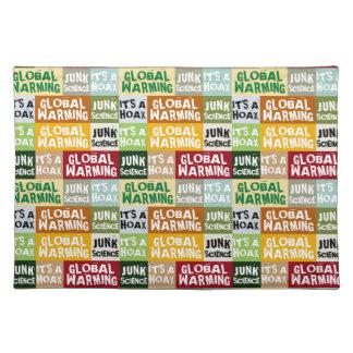 Globale het Verwarmen Hoax Placemat
