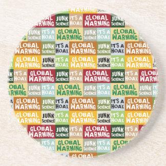 Globale het Verwarmen Hoax Zandsteen Onderzetter