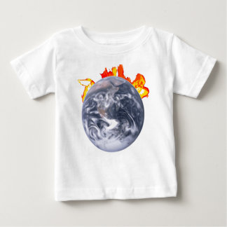 Globale Verwarmende Aarde Baby T Shirts