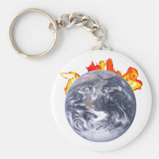 Globale Verwarmende Aarde Sleutelhanger
