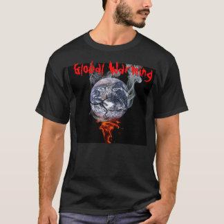 Globale verwarmende t-shirt