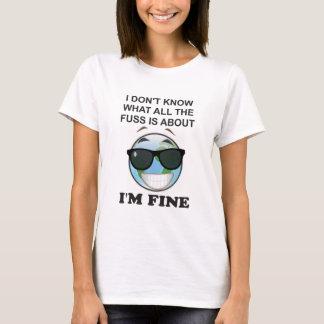 Globale verwarmende t-shirt niet!