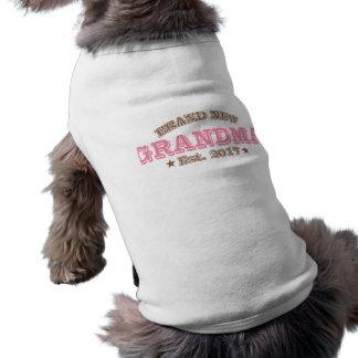 Gloednieuwe Oma Est. 2017 (Roze) Mouwloos Hondenshirt