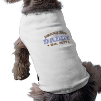 Gloednieuwe Papa Est. 2017 (Paars) Mouwloos Hondenshirt